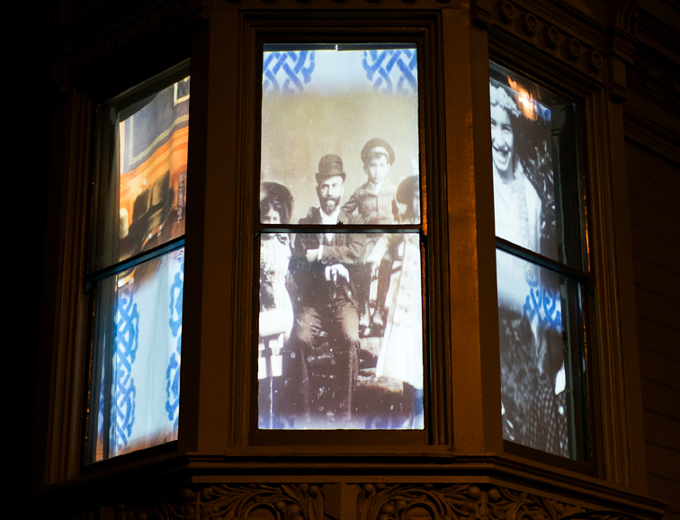 Photograph of The Haas-Lilienthal Family Projection Artwork courtesy of Scott Hahn.