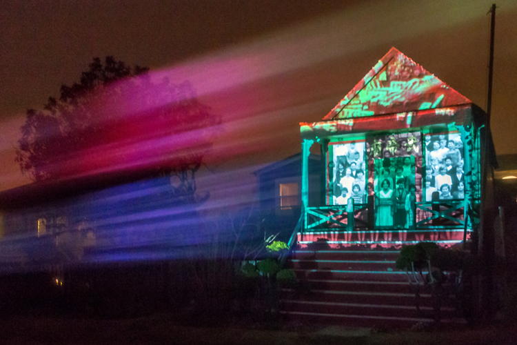 Mendocino Kwan Tai Temple Projection, Ben Wood